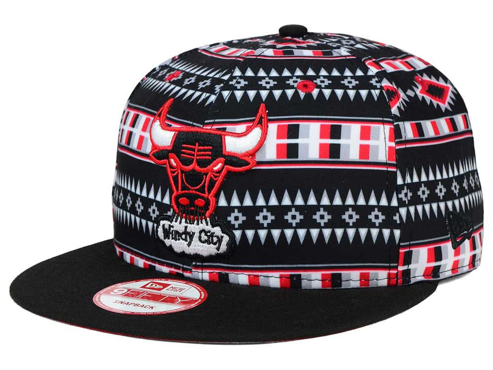 "New Era NBA Chicago Bulls ""Tri-All"" Snapback Cap - OSFA Adjustable Hat"
