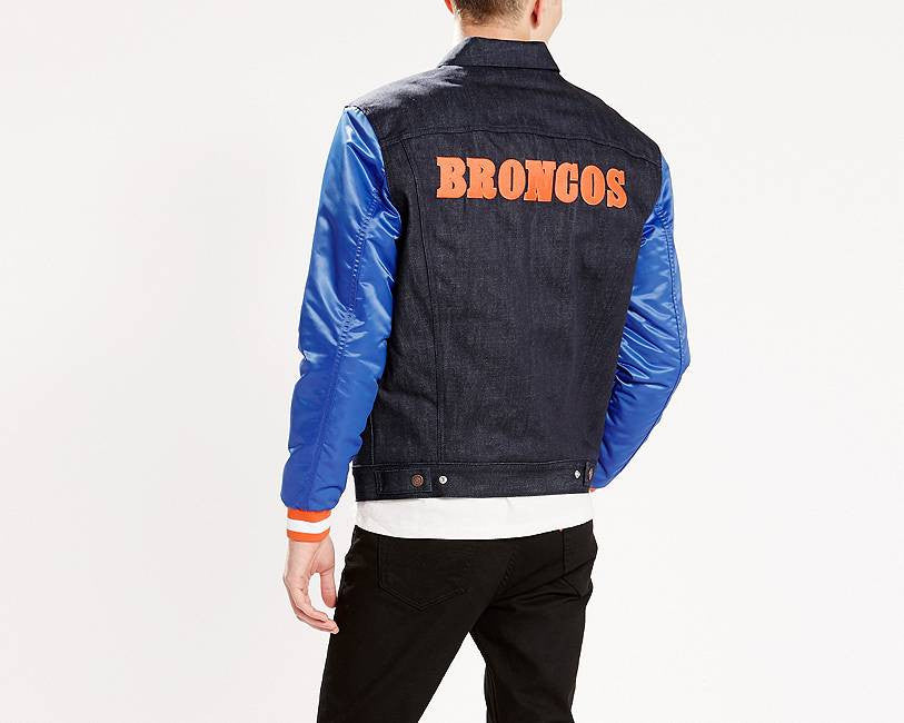 "Official Levi's x NFL Denver Broncos ""Denim Trucker"" Jacket (M-XL)"