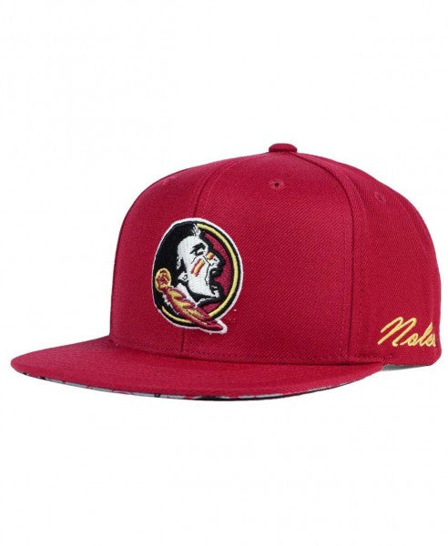 "NCAA Florida State ""Paisley"" Snapback Cap - OSFA Adjustable Hat"