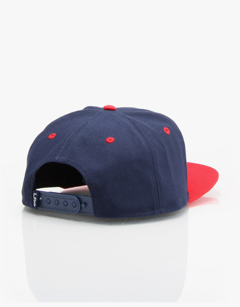 "LRG ""Lifted Research Group"" Snapback Cap (Navy/Red) Adjustable Hat"