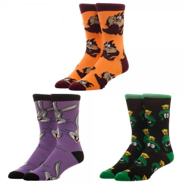 Looney Tunes 3-Pack Crew Socks Boxed Gift Set - Officially Licensed