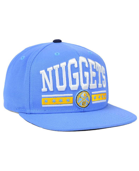 "Adidas Denver Nuggets ""Stars"" NBA Snapback Cap - OSFA Adjustable Hat"