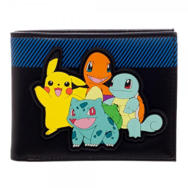 Pokemon Multi Character Bi-Fold Wallet - Officially Licensed