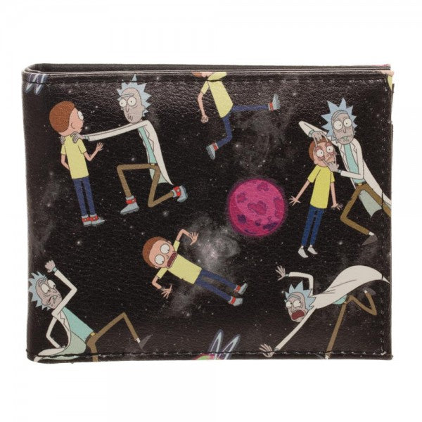 Rick and Morty Sublimated Bi-Fold Wallet - Officially Licensed