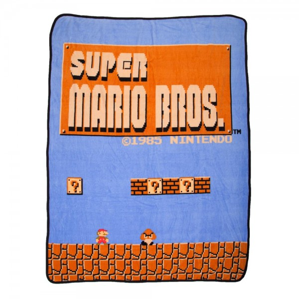 "Nintendo Super Mario Brothers Fleece Throw Blanket (48""x60"") Officially Licensed"