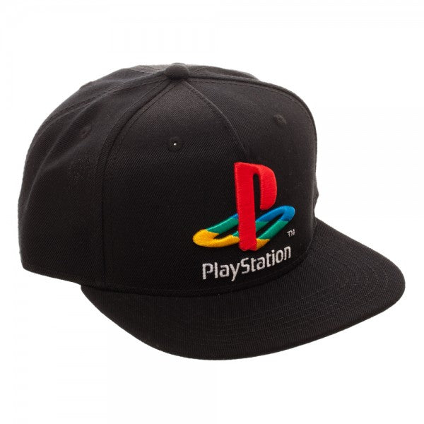 Retro Sony Playstation Snapback Cap (Black) OSFA Adjustable Hat
