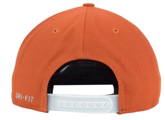 "Nike Dri-Fit NCAA Texas Longhorns ""Players"" Snapback Cap - OSFA Adjustable Hat"