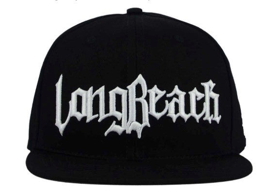 "Legendary MFG ""Long Beach"" Snapback Cap (Black/White) OSFA Adjustable Hat"