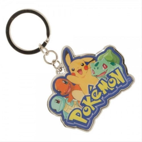 Pokemon Multi Character Metal Keychain - Officially Licensed
