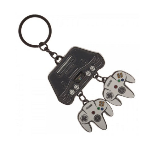 Retro Nintendo 64 Console Keychain (Metal) Officially Licensed
