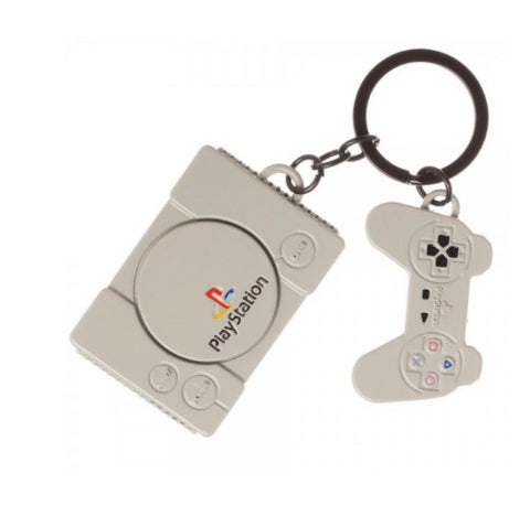 Retro Sony PlayStation Console Keychain (Metal) Officially Licensed