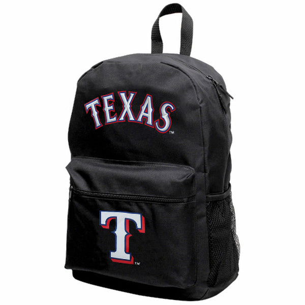 "MLB Texas Rangers ""Sprint"" Backpack (Black) Unisex, Adjustable, NEW"