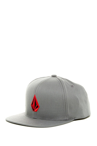 Volcom Stone Flat Bill Snapback Cap (Charcoal) OSFA Adjustable Hat