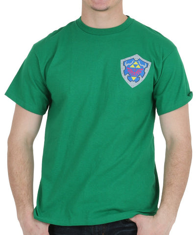 "RETRO Legend of Zelda ""Shield 3D"" T-Shirt (M-XXL) Unisex Adult Gaming Tee"