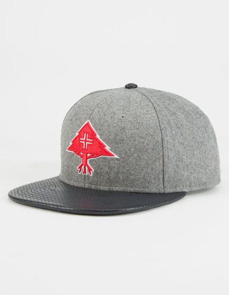 "LRG ""Big Trees"" Snapback Cap (Grey/Red) Adjustable Hat"