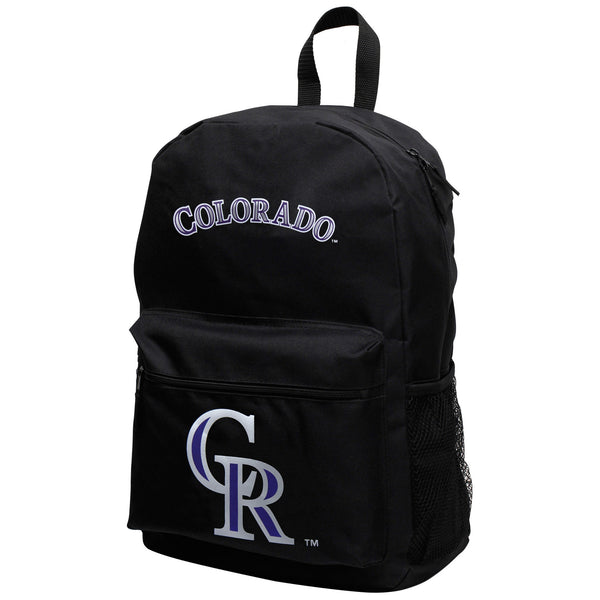 "MLB Colorado Rockies ""Sprint"" Backpack (Black) Unisex, Adjustable - NEW"