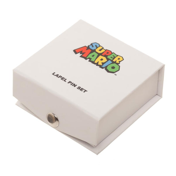 Retro Super Mario Brothers Lapel Pin Boxed Set - Officially Licensed