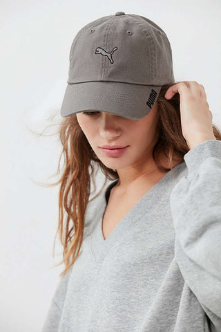 "PUMA ""Padre"" Women's Adjustable Cap (Grey/Black) OSFA - Strapback"
