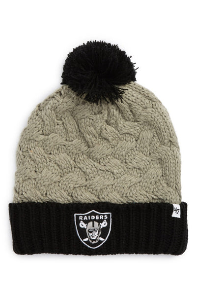 Oakland Raiders NFL Knit Pom Beanie - OSFA Winter Cap