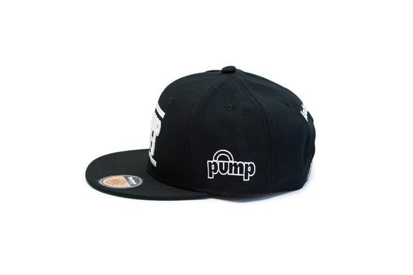 "RETRO Reebok Classic ""Pump It"" Snapback Cap (Blk/Wht) OSFA Adjustable Hat"