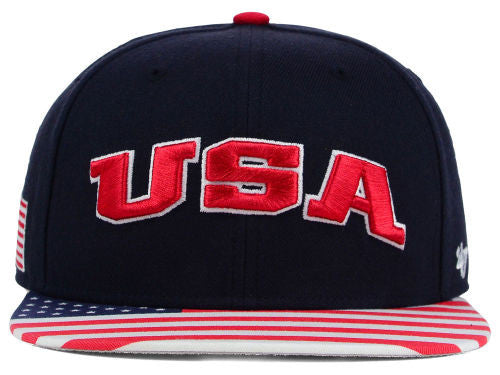 "'47 Brand USA ""FlagPole"" Snapback Cap - OSFA Adjustable Hat"