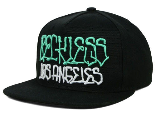 "Young & Reckless ""Written"" Snapback Cap (Black/Teal) OSFA - Adjustable Hat"
