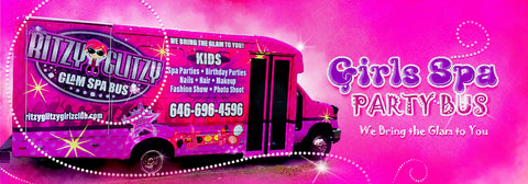 Long Island New York Spa Birthday Party Bus for kids - Ritzy Glitzy Girlz Club