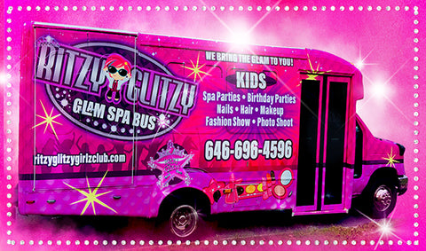 Long Island New York Kids Spa Birthday Party Bus - Ritzy Glitzy Girlz Club