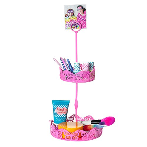 Pink Butterfly 2 Tier Jewelry & Accessories Stand