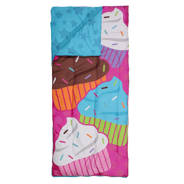 Cupcake Mania Reversible Sleeping Bag
