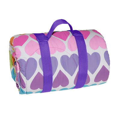 Rainbow Hearts Reversible Sleeping Bag