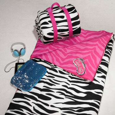 Zebra-licious Reversible Sleeping Bag