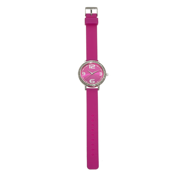 Silicone Metallic Watch