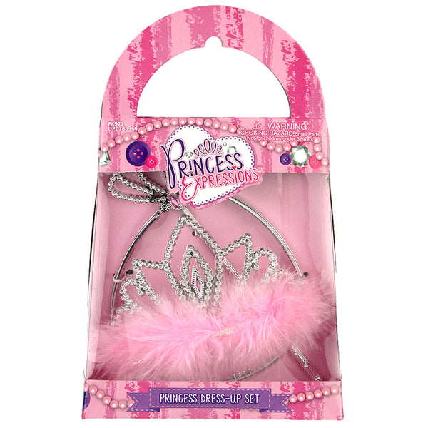 Princess Tiara & Wand Set (Purple Diamond)