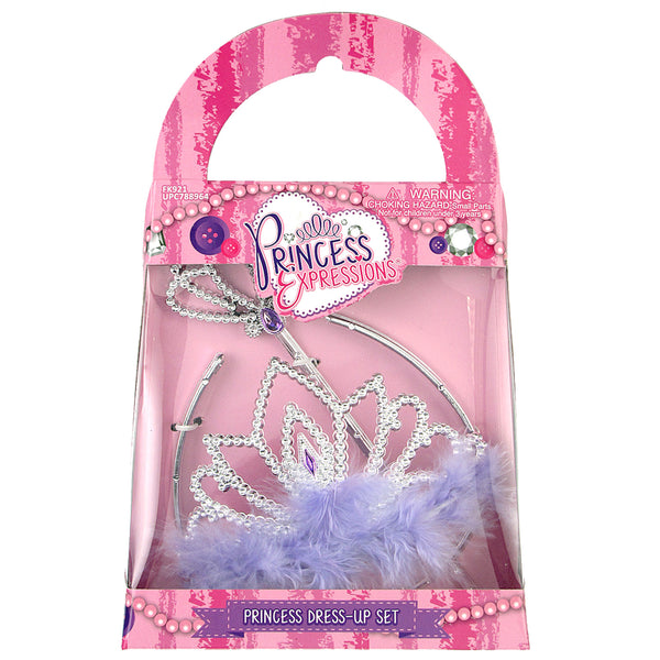 Princess Tiara & Wand Set (Pink Diamond)