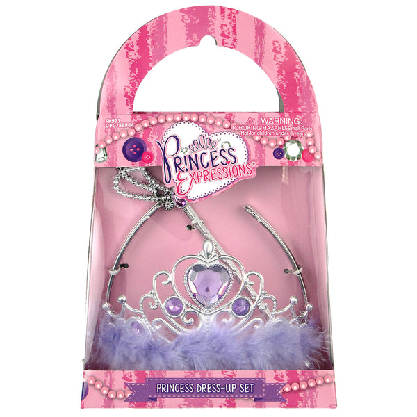 Princess Tiara & Wand Set (Purple Heart)
