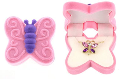 Fuchsia Butterfly Necklace