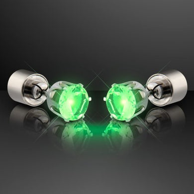 Green Light Up Earrings
