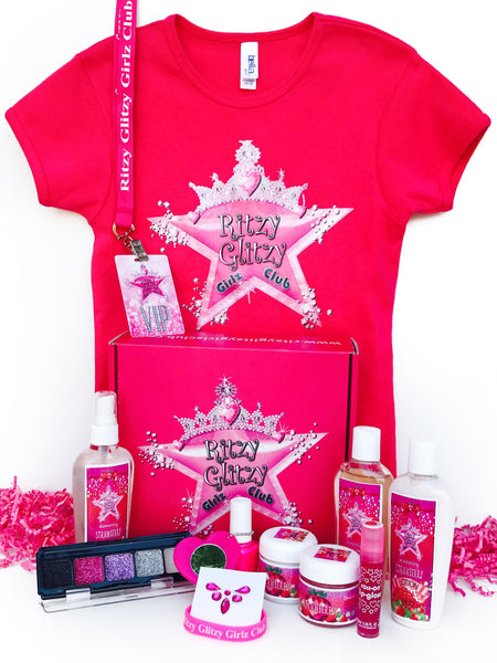 VIP Glam Spa Box (Strawberry Scented)