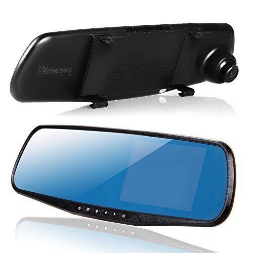 "HD 1080P In-Car Rear View Mirror 2.7"" Monitor Dash Cam Recorder Camera Dual lens"