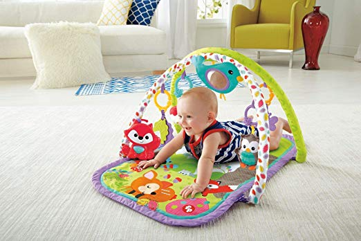 Musical Activity Gym Baby 3 In 1 Fisher Price Floor Mat Tummy Time Toys Fox New