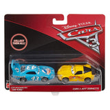 Cars The King & Jeff Gorvette Vehicle, 2 Pack