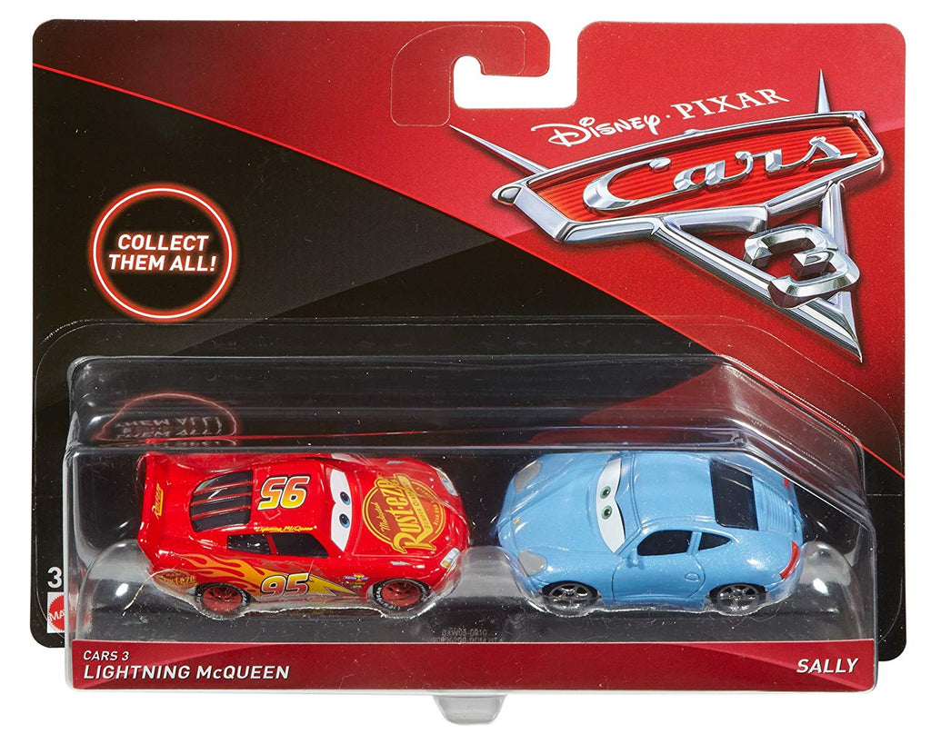 Cars 3 Lightning McQueen and Sally Die-Cast Vehicles, 2-Pack