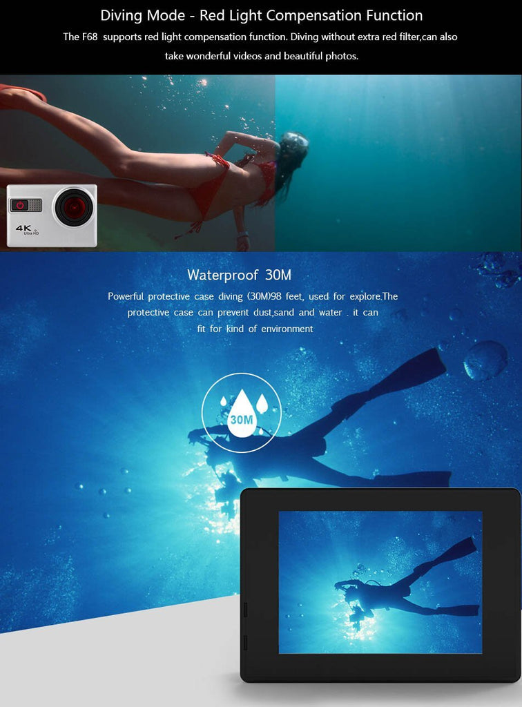 Waterproof 4K Camera