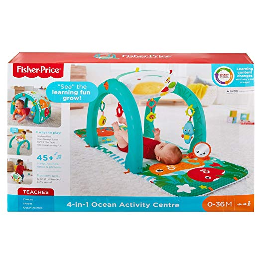 4-in-1 Ocean Activity Center, Blue/Green