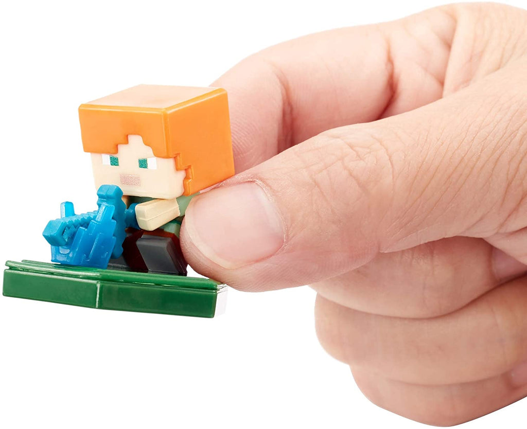 Minecraft Earth Boost Mini Attacking Alex Figure