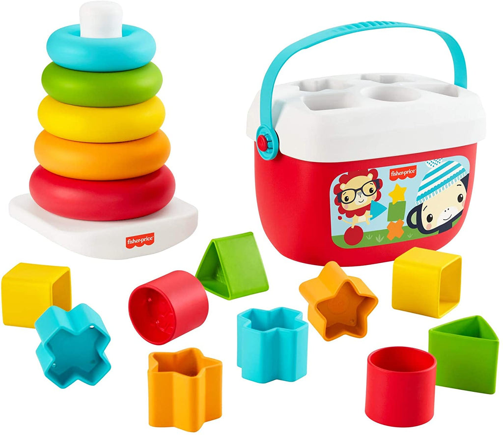 Fisher-Price Baby's First Blocks & Rock-a-Stack, Plant-Based Toys
