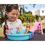 Barbie Estate Playset with Blonde Doll, Pool, Slide and Accessories