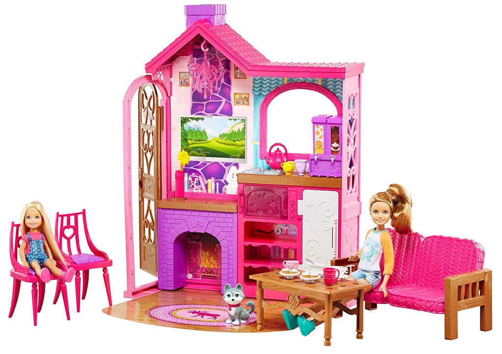 Barbie Camping Fun Playset with Barbie Cabin, Furniture, Puppy & Accessories