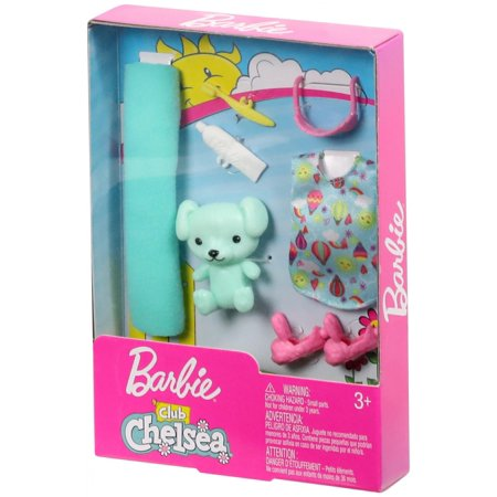 Barbie Club Chelsea Bedtime Accessories Set with Teddy Bear